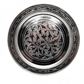 Поднос серебряный круглый. Серебро 875 пробы. арт. 875-0004