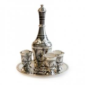 Водочный серебряный сервиз «АРГУМЕНТ». арт. 875-4-610008(3)