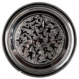 Поднос серебряный круглый «Менестрель». Серебро 875 пробы. арт. 875-0012(3)