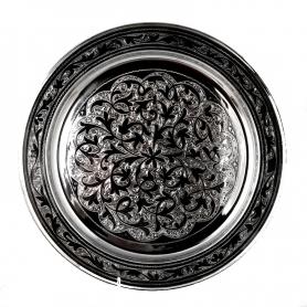 Поднос серебряный круглый «Кадукей». арт. 875-0012(4)