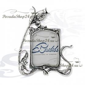 """Серебряная фоторамка """"РОЗА"""". 4 x 5 см. арт. 925-10-0070502/A"""