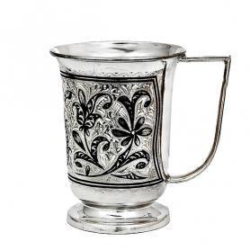 Кружка серебряная. 875 проба. арт. 875-0136(3)