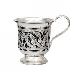 Кружка серебряная «Лира». арт. 875-0136(4)
