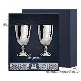 Набор серебряных кованых рюмок №1. арт. 925-5-026РМ00001(2)