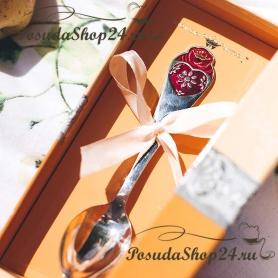 Набор из серебра с кружкой или поильником «СЕРДЦЕ». арт. 925-5-482КР05007