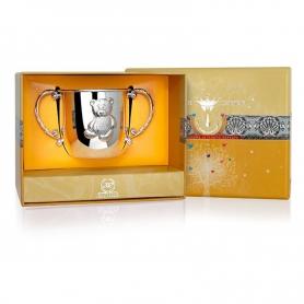 Набор из серебра «МИШКА»: поильник и ложка. арт. 925-5-226НБ05801