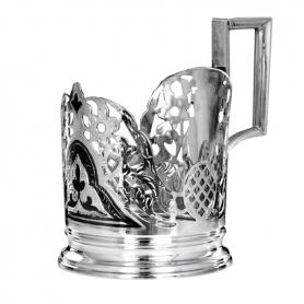 Серебряный подстаканник со стаканом. арт. 875-0808