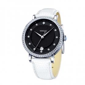 """Серебряные часы """"ЭНИГМА"""" (белые).арт. 925-8-102.30.00.001.05.02.2"""