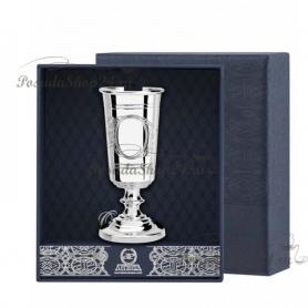 Серебряная рюмка «ДЖЕНТЕЛЬМЕН» с узором. арт. 925-5-1043РМ00801_подарочный