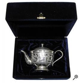 Cеребряный чайник «ОБЫЧАЙ». арт. 875-1-0021(2)