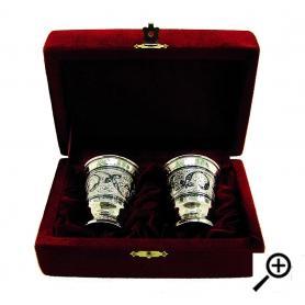Серебряная стопка. . 875 проба. арт. 875-2-0114