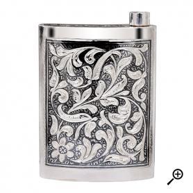 Серебрянная фляга «МОРОЗНЫЙ УЗОР»