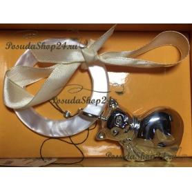 """Серебряная погремушка """"КОШКА""""на кольце арт. 925-5-1GI0081J(р)"""