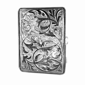 Портсигар серебряный «МИНОР». арт. 875-7-0022(6)