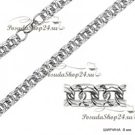 Серебряная цепь БИСМАРК  (Ширина: 8 мм.) арт. 925-2-170-8