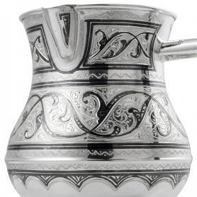 Серебряная турка «Дыхание». арт. 875-1-2058(10)