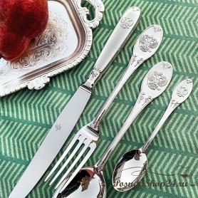 """Столовый набор из серебра """"ЕДИНСТВО"""" из 24 предметов. арт. 925-5-391НБ01801"""