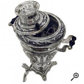 Серебряный самовар «ЖАР» арт. 875-6-0002