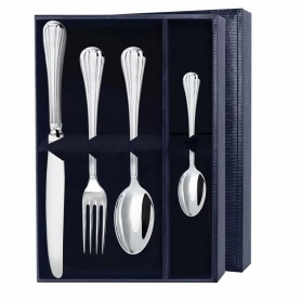 Набор десертных приборов «МЕРИДИАН» из серебра. арт. 925-5-1395НБ01801