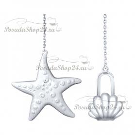 Серебряный ионизатор воды «Морская звезда». арт. 925-8-2301080007
