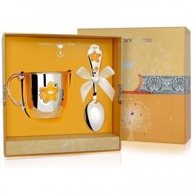Набор из серебра «ЗВЕЗДА»: кружка и ложка. арт. 925-5-616НБ05808