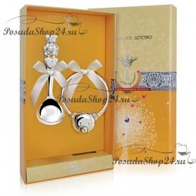 Набор серебра для младенца «Мишутка». арт. 925-5-289ЛЖ03001/8271142/8