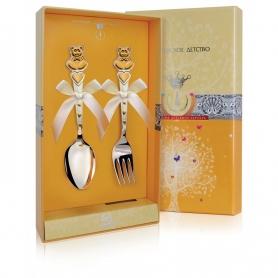 Детский набор из серебра «МИШКИ с СЕРДЕЧКАМИ». арт. 925-5-419НБ05802