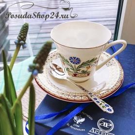 Серебряная чайная ложка «ВАСИЛЕК». арт. 925-5-120ЛЖ03007