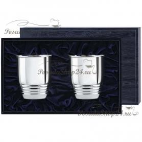 Набор серебряных стаканов «РИФЛЕНЫЕ малые». арт. 925-5-1106СН00001