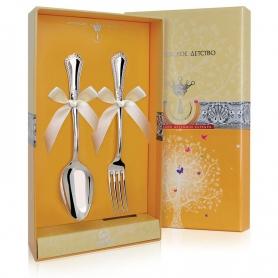 Десертный набор из двух серебряных приборов «ФАВОРИТ». арт.925-5-315НБ02801
