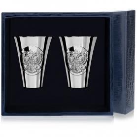Набор из 2 серебряных стопок«ГЕРБ» арт. 925-5-294НБ00801(2)