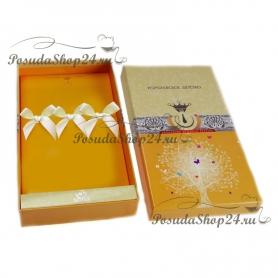 Десертный набор из трехсеребряных приборов «ФАВОРИТ». арт.925-5-201НБ02801