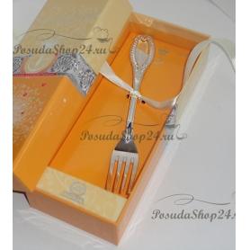 Серебряная десертная вилка «ИМПЕРАТОР». арт. 925-5-336ВЛ02001