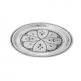 Круглый поднос. Серебро 875. арт. 875-3502
