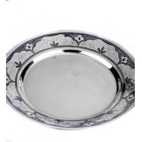 Cеребряная тарелка «Очаг». арт. 875-1-0205.
