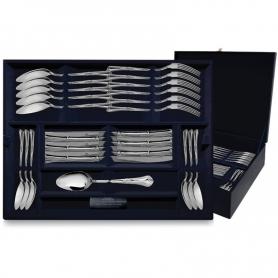 """Столовый набор из серебра """"ФАВОРИТ"""". 48 предметов. арт. 925-5-047ЛЖ01001"""