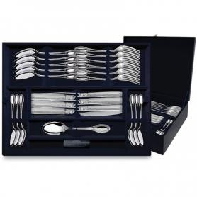 """Столовый набор из серебра """"ИМПЕРАТОР"""". 48 предметов. арт. 925-5-170ЛЖ01001(12)"""