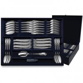 """Столовый набор из серебра """"ПРЕСТИЖ"""". 48 предметов. арт. 925-5-152ЛЖ01001(12)"""
