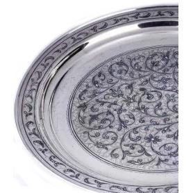 Оригинальныйподнос из серебра. арт. 875-4-4010