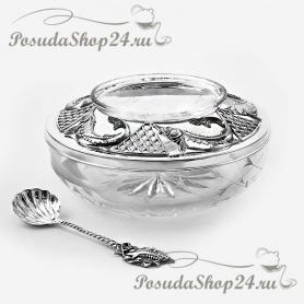 Серебряная ложка для икры  «ОСЕТР». арт. 925-5-914ЛЖ12006