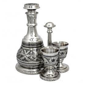 Серебряный графин «НА ДВОИХ». Серебро 875. арт. 875-0009(2)