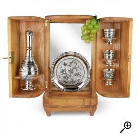 Водочный серебряный набор «ТРИО». арт. 875-2-3801
