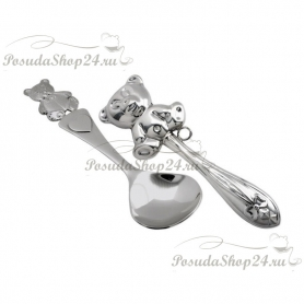 Набор из серебра для младенца«МИШУТКА». арт. 925-5-РИ17НБ05801