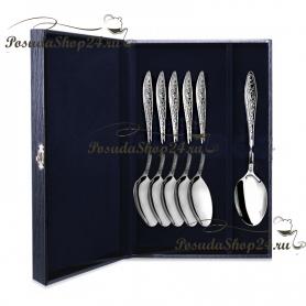 Набор десертных серебряных ложек «МОРОЗКО» арт. 925-5-040ЛЖ02001(6)