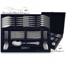"""Столовый набор из серебра """"ФАВОРИТ"""" из 24 предметов. арт. 925-5-393НБ01801"""
