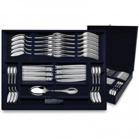 """Десертный набор из серебра """"ИМПЕРАТОР"""" 24 предметов. арт. 925-5-335ЛЖ02001"""