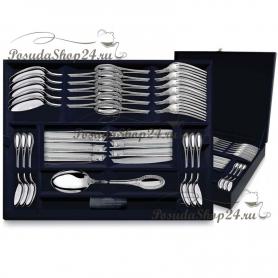 """Столовый набор из серебра """"ИМПЕРАТОР"""" из 24 предметов. арт. 925-5-763НБ01801"""