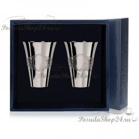 Набор из 2 серебряных стопок «Подарочная» арт. 925-5-552СТ00001(2)