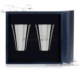 Набор из 2 серебряных стопок «ГЛАДКАЯ» арт. 925-5-343СТ00001(2)