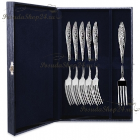 Набор десертных серебряных вилок «МОРОЗКО» арт. 925-5-039ВЛ02001(6)